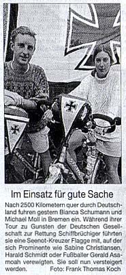 Weserkurier vom 12. Juni 2002