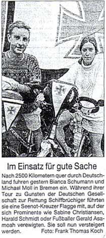 Bremer Nachrichten vom 13. Juni 2002