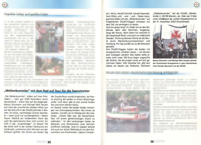 Jahrbuch der DGzRS 2003