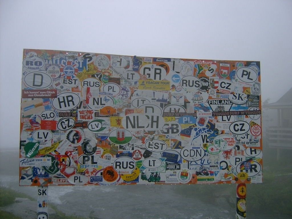 beklebte Wand
