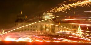 Feuerwerk vor dem Reichstag