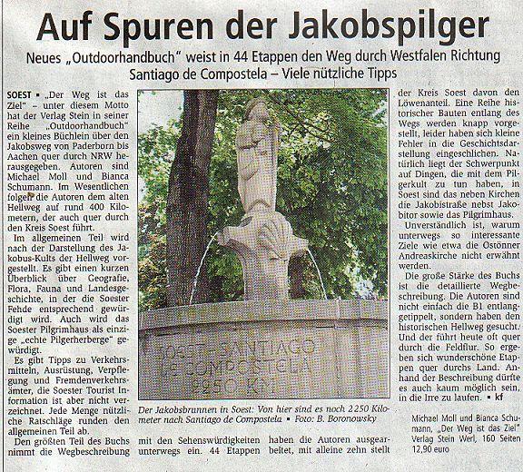 Soester Anzeiger vom 4. Juni 2005