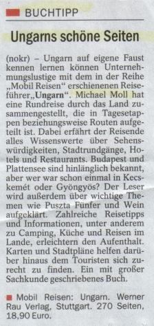 Esslinger Zeitung vom 18. November 2006