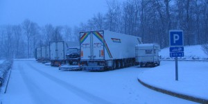 Schnee auf dem Rückweg