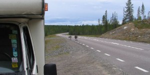 Wohnmobil in Lappland