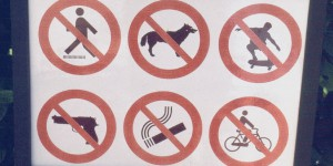 Waffen verboten