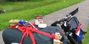 Frühstück auf dem Radweg