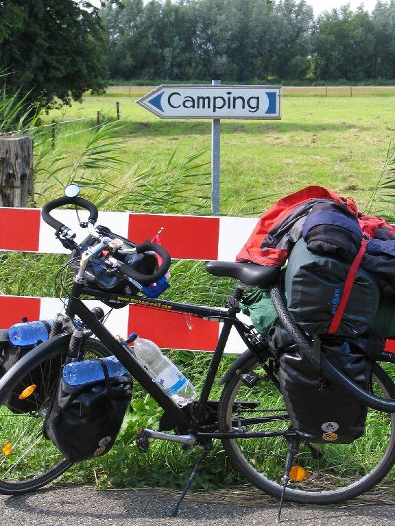 Auf dem Weg zum Campingplatz