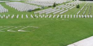 Soldatenfriedhof in der Normandie