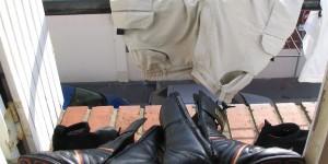 Schuhe trocknen