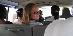 Unterwegs im Taxi