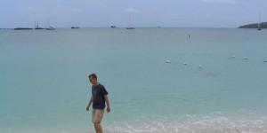 Baden im karibischen Meer