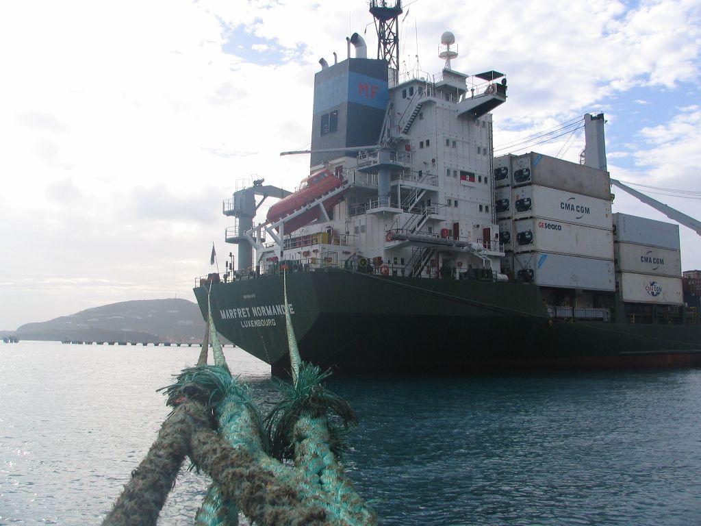 Frachtschiff Marfret Normandie