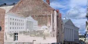 Wandbild in Tartu