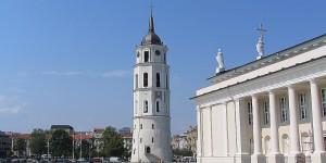 Kirchturm in Vilnius