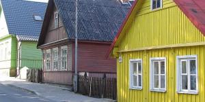 Bunte Häuser bei Trakai