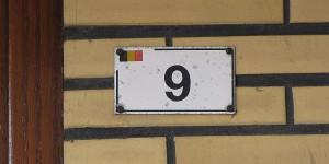 Hausnummer auf Belgisch