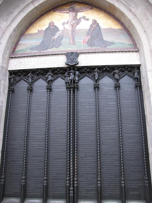Luthers Thesen an der Tür