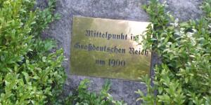 Geografischer Mittelpunkt des Deutschen Reichs