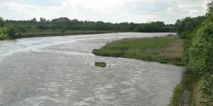 Grenzfluss Bug zwischen Polen und Belarus