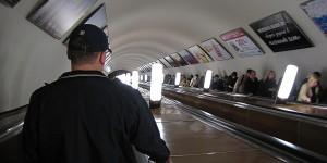 Rolltreppe zur Moskauer Metro
