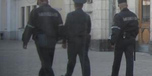 Auf dem Bahnsteig in Minsk