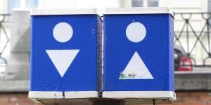 Toilettenhäuschen auf Russisch