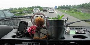 Auf der Autobahn zur Nordsee