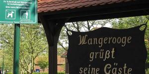 Begrüßungsschild auf Wangerooge