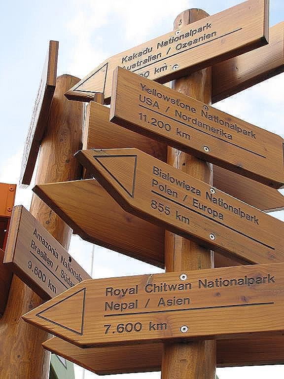 Schilder im Nationalpark