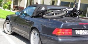 Fahrrad im Mercedes