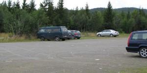 Parkplatz am Mittelpunkt von Norwegen