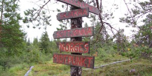 Wanderung zum Mittelpunkt von Norwegen