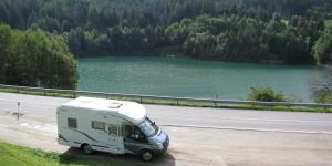 Wohnmobil in den Dolomiten