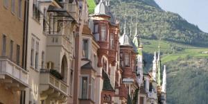 Häuserzeile in Bozen