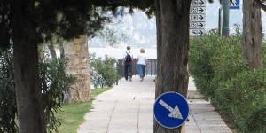 Fußgängerweg am Gardasee