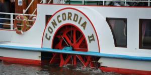 Raddampfer Concordia II auf der Harle