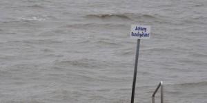 Rutschgefahr in der Nordsee