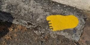 Fußabdruck als Wegweiser