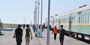 Bahnhof von Choir in der Mongolei