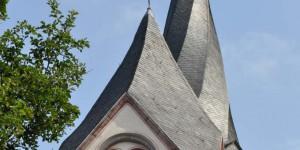 Verdrehter Kirchturmhelm in Mayen