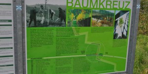 Baumkreuz an der ehemaligen Grenze