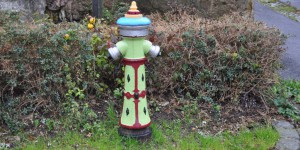 bemalter Hydrant in Schmerbach