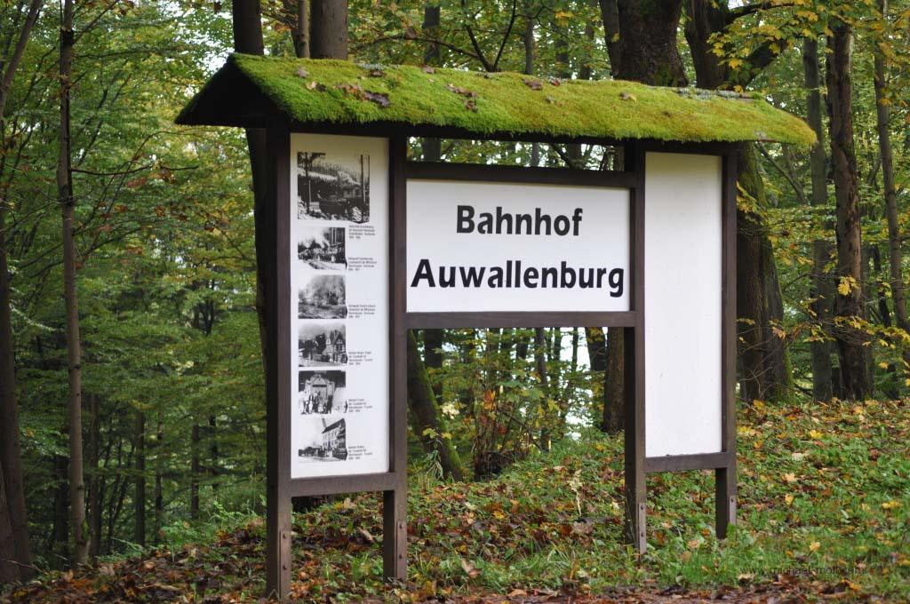 Ehemaliger Bahnhof Auwallenburg bei Trusetal