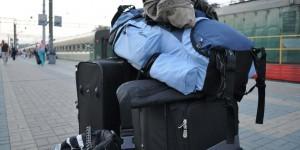 Gepäck in Moskau