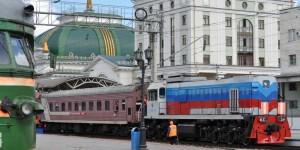 Am Bahnhof von Krasnojarsk