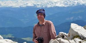 Michael Moll auf dem Gipfel