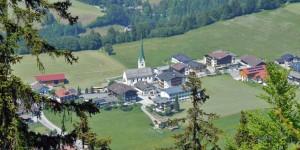 Aussicht in den Alpen