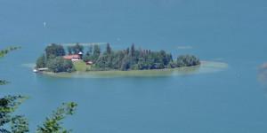 Die Insel Wörth im Schliersee