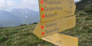 Wegweiser auf dem Veitsberg